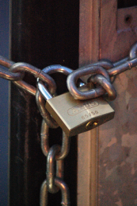 chain with padlock